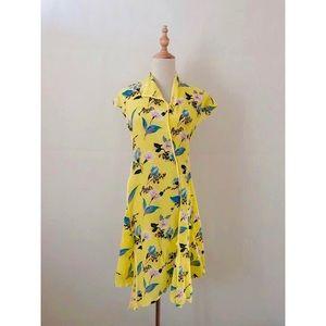 DIANE VON FURSTENBERG Floral chine Dress Yellow